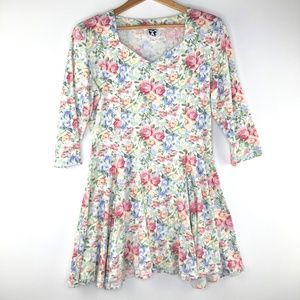 VTG Zanoni By Jalete Soft Floral Mini Dress MD